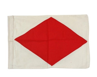 Letter F Cotton Nautical Flag