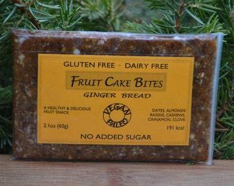 Ginger Bread - Healthy Fruit Cake Snack for paleo, gluten-free, vegan diet.
