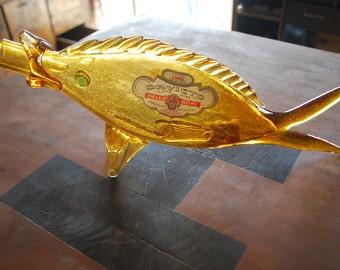 1966 Orvieto Fish Shaped White Wine  Bottle