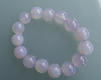 lavender chalcedony stretch bracelet for her