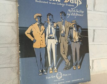 Framed Vintage Sheet Music Cover Page