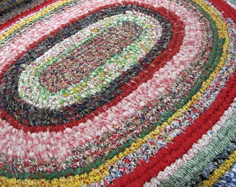 Rag Rug Instructions for OVAL Rug plus Wooden toothbrush needle