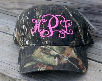 Monogrammed Real Tree Camo Hat