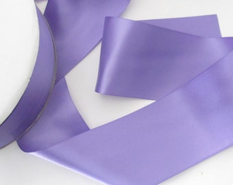 Delphinium Double Face Satin Ribbon  / Ribbon by the yard / Delphinium