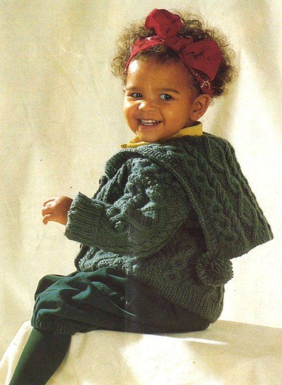 Knit Sailor Collar Cabled Sweater Vintage Pattern By