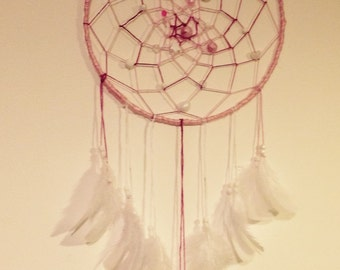 Pink and White Dreamcatcher