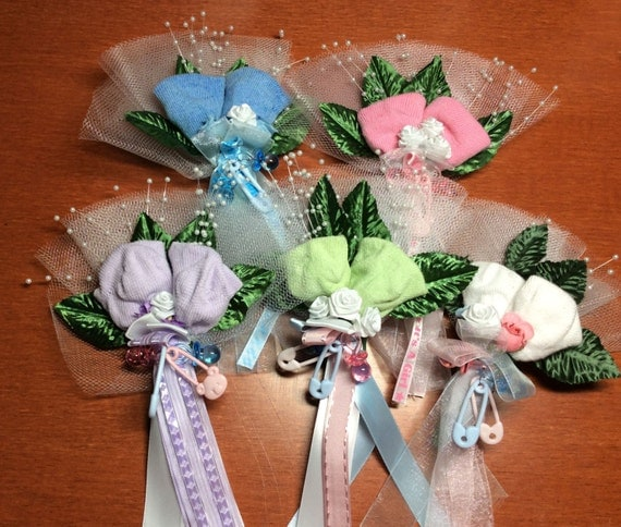 baby shower sock corsage