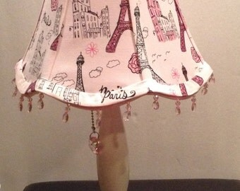 Pink Paris Themed Lamp - Base Included | Pink Poodle Lamp Theme