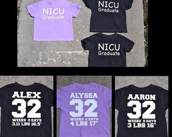 NICU Graduate Jersey Style Shirt