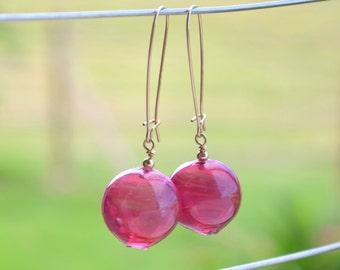 Blown Venetian glass earrings