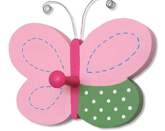 "Sweet Butterfly With Peg Handpainted to Coordinates with Our Collection of ""Hayley"" Designs"
