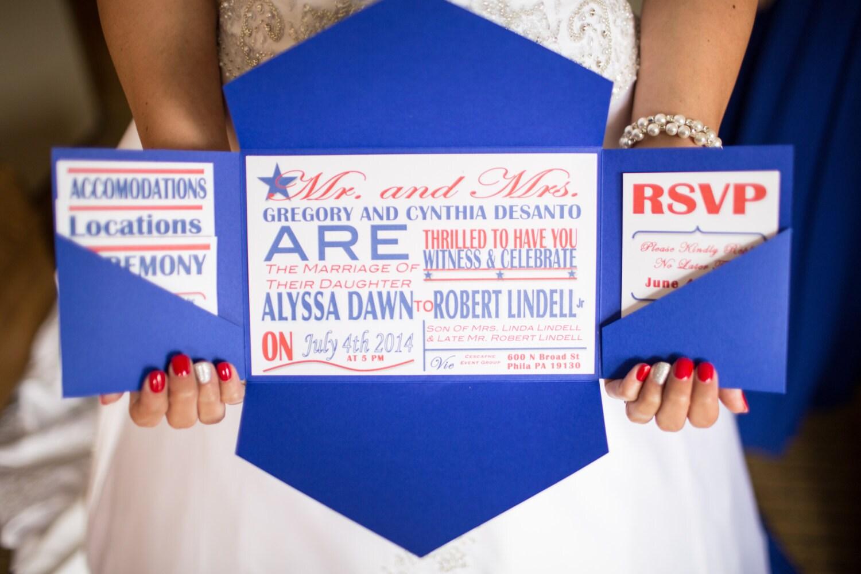 fourth of july patriotic wedding invitations, Wedding invitations
