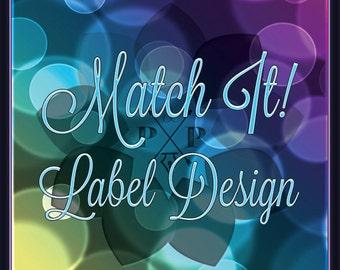 Match It! Add-On Label Design