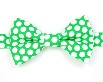 Green Polka dot  bow tie,Light Green bow tie,Wedding bow tie,Easter bow tie for Men ,Toddlers ,Boys,Baby