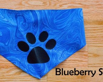 Dog Bandana, Blue Dog Bandana, Blue Swirl Dog Bandana