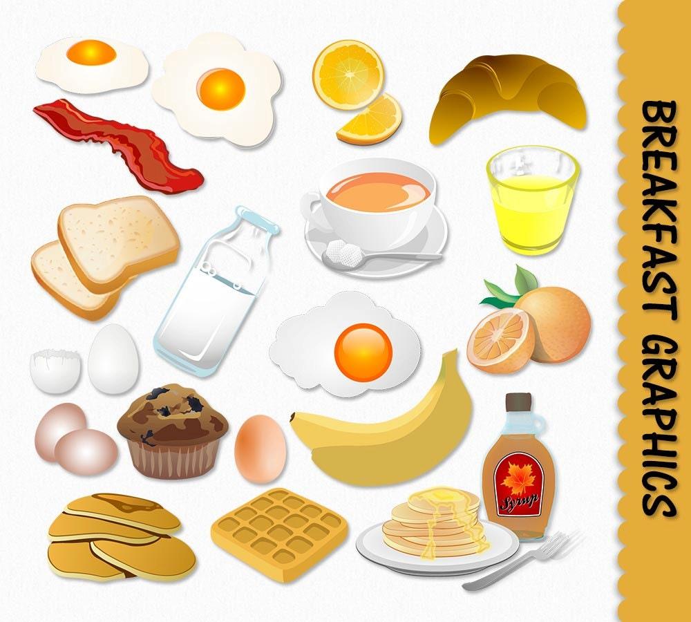 Breakfast Food Clip Art Graphics Clipart Scrapbook Muffin ...