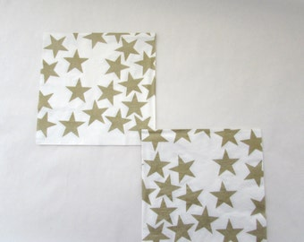 Stars Decoupage Napkins Paper Napkin Paper Crafts Serviette Vintage Paper Collage Decoupage Mixed Media Stars Napkin Craft Napkin Set Of 3