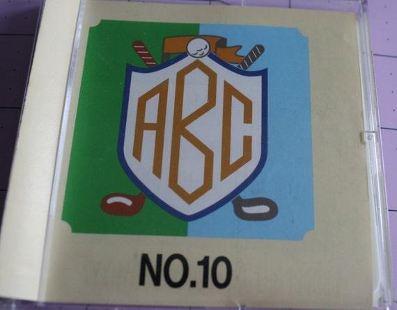 Bernina brother monogram no machine embroidery art card