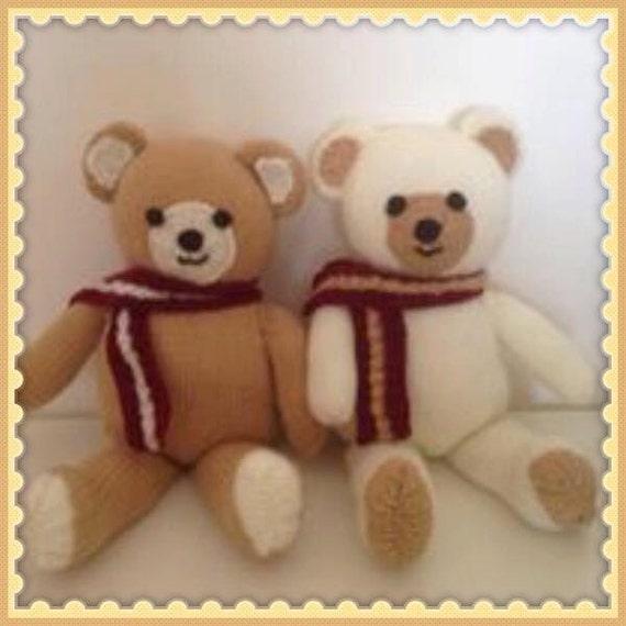 Teddy Bear Knitting Pattern Soft toy Knitting Pattern for beginners.Teddy toy...
