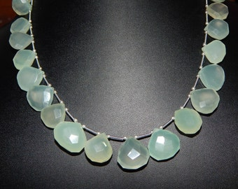 """Chalcedony Faceted Beads Pear Shape 13""""Inches This Size- 12x16 mm approx Top quality."""