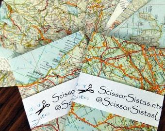 Map Envelopes - Vintage European Maps