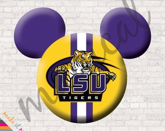 lsu iron on louisiana universisty lsu mickey mouse digital lsu mickey ears mickey characters football disney football