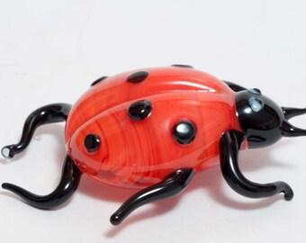 Glass Hand-Blown Glass Ladybird Collectible  Figurine