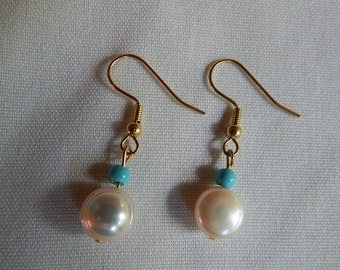 Pearl and turquoise