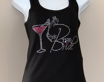 Bride:  Rhinestone Tank Top, Bridal Shower Gift, Bachelorette Party, Engagement
