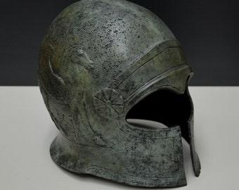 Cretan bronze aged Ancient Greek Helmet