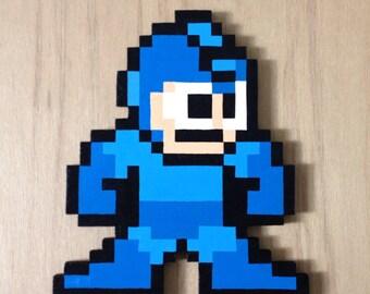 Nintendo's MegaMan - Handmade wooden pixel art - Wall Art - Wall Decor