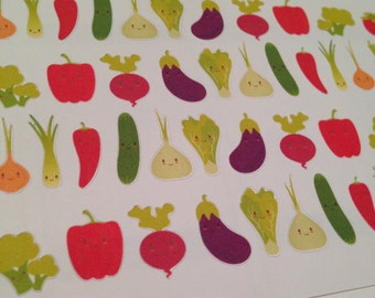 Vegetable stickers -  for your EC planner