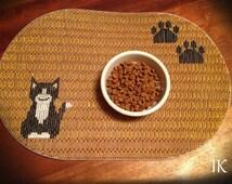 Plastic Canvas Pet Placemat, Pet Placemat Custom, Pet Placemat  Personalized