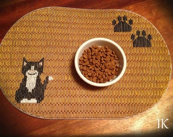 Plastic Canvas Pet Placemat, Pet Placemat Custom, Pet Placemat  Personalized