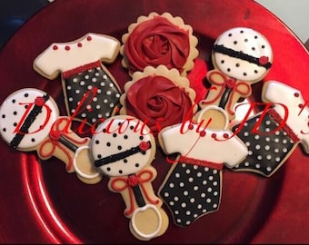 Baby decorated cookies 2dz (24 cookies)