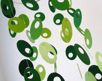 Retro Green Mobile - Green Oval Mobile - Midcentury Modern Mobile