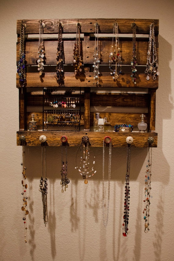 Items Similar To Pallet Jewelry Organizer On Etsy