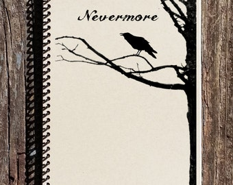 Edgar Allen Poe Journal - Edgar Allen Poe Notebook - The Raven Nevermore - Literature Notebook