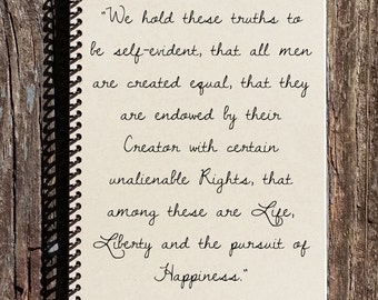 Declaration of Independence - American History - History Journal - History Notebook - All Men Created Equal - 4th of July - US History