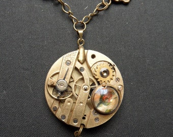 Movement with rose and leaf steampunk