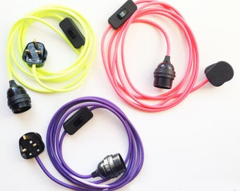 Fluorescent Neon Electrical Cable Set Lighting Flex Edison E27