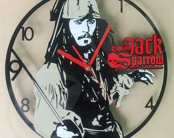 Vinyl wall clock - Captain Jack