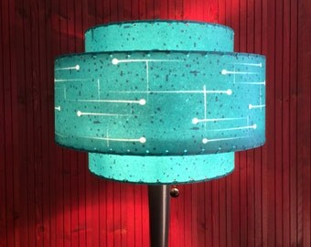 Mid  Century Modern Style Fiberglass Lamp Shade Atomic Lighting 3T-72.0