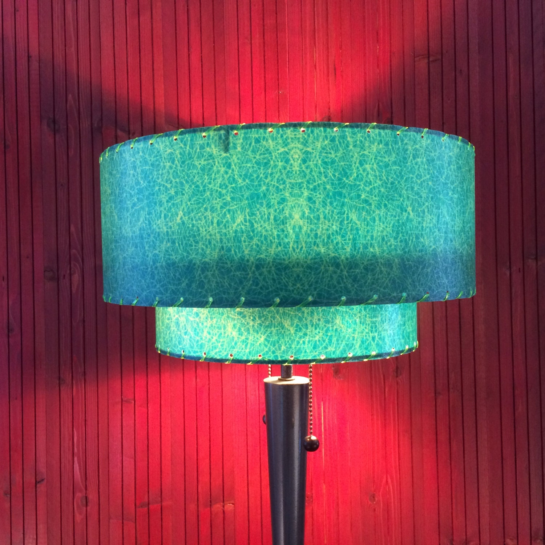 mid century modern style fiberglass lamp shade 2t 82 3. Black Bedroom Furniture Sets. Home Design Ideas