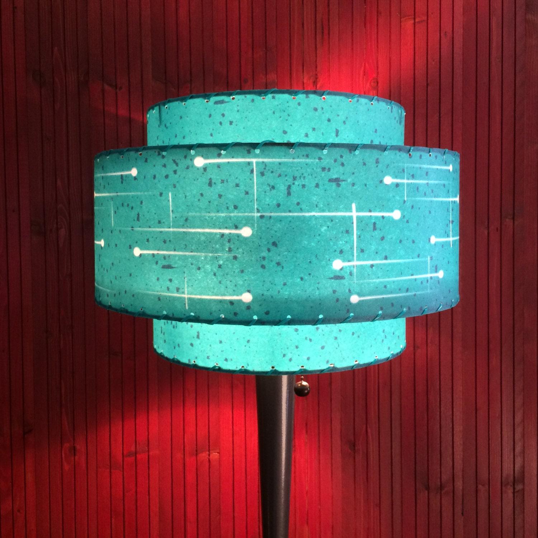 mid century modern style fiberglass lamp shade atomic. Black Bedroom Furniture Sets. Home Design Ideas