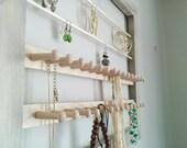 Jewellery organizer - large - rustic reclaimed wood