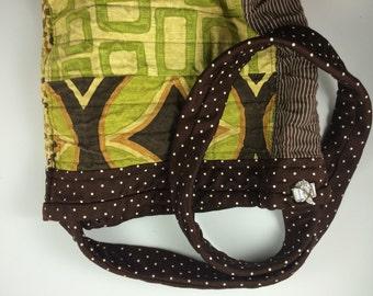 Handmade Cloth Purse with Rhinestone or Crystal Embellishments