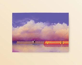 Studio Ghibli Spirited Away Postcard: Departure, Chihiro and No Face, Anime Postcard, Spirited Away Train Scene