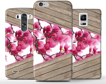 Pink Flowers On Wood Unique Hard Case Cover Apple iPhone 5 5s 5c 6 6+ Plus Samsung Galaxy S6 s4 s5 Note 3 4 Sony Xperia Z3 Z1 Z2 Lg G2 G3