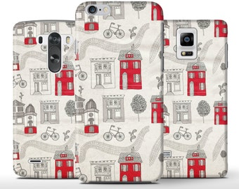 Retro Houses Pattern Unique Hard Case Cover Apple iPhone 5 5s 5c 6 6+ Plus Samsung Galaxy S6 s4 s5 Note 3 4 Sony Xperia Z3 Z1 Z2 Lg G2 G3